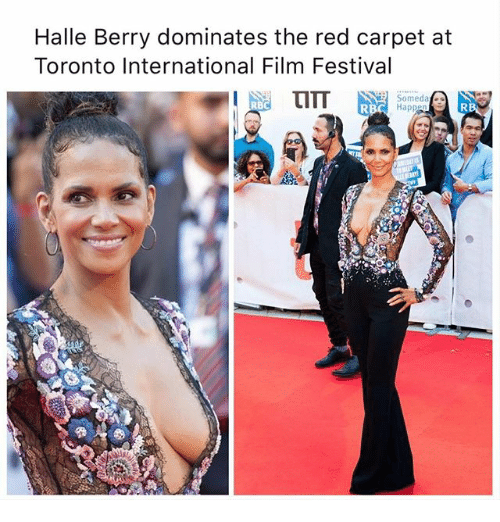 halle: Halle Berry dominates the red carpet at  Toronto International Film Festival  Somedat  RB