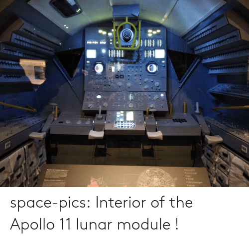 pics: Haplica of lunar module space-pics:  Interior of the Apollo 11 lunar module !