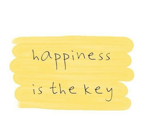 the key: happiness  is the key