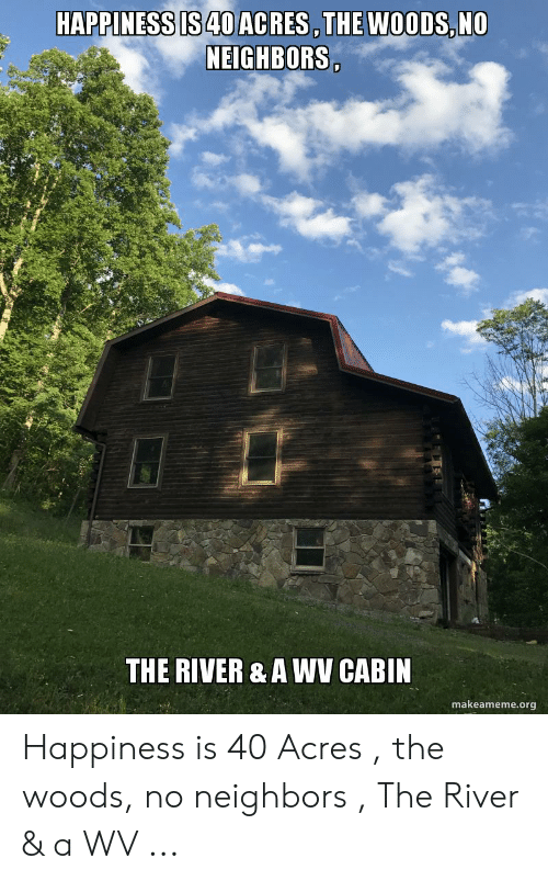 Happiness Is40 Acres The Woods No Neighbors The River A Wv Cabin