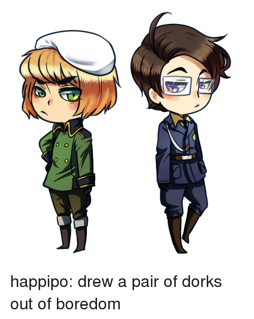 dorks: happipo: drew a pair of dorks out of boredom