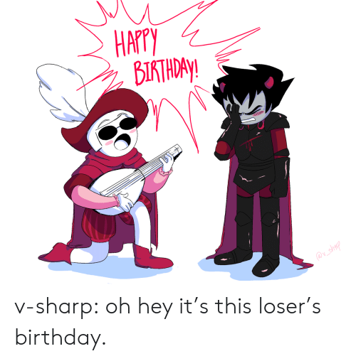 Birthday, Target, and Tumblr: HAPPY  ВІТЮР  @v_shalp v-sharp:  oh hey it's this loser's birthday.