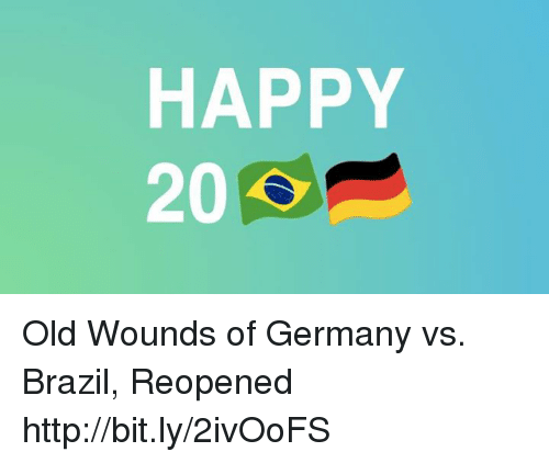 germany vs brazil: HAPPY  20 Old Wounds of Germany vs. Brazil, Reopened http://bit.ly/2ivOoFS