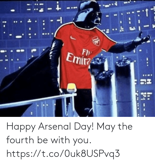 with you: Happy Arsenal Day!   May the fourth be with you. https://t.co/0uk8USPvq3