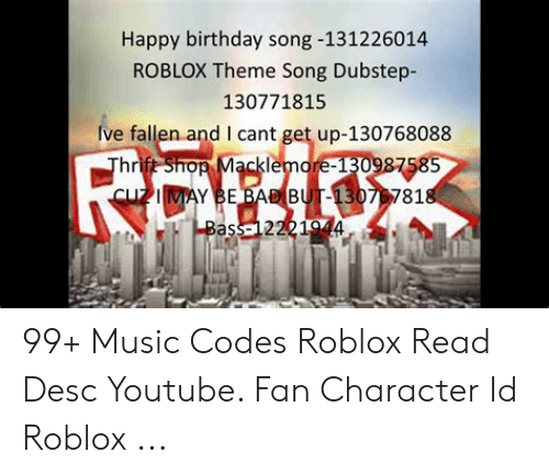 Fat Song Roblox Id Free Roblox Redeem Cards Download
