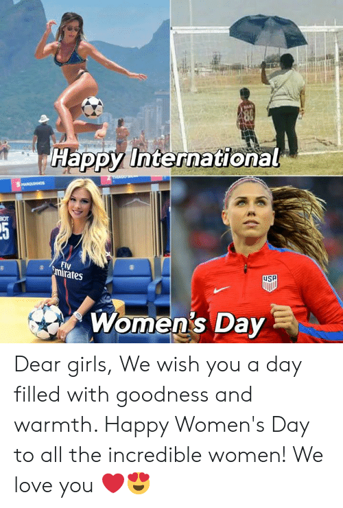 Girls, Love, and Memes: Happy International  Fl  rates  Women's Day Dear girls,  We wish you a day filled with goodness and warmth. Happy Women's Day to all the incredible women!  We love you ❤️😍