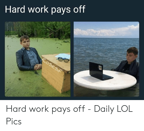 Hard Work Meme: Hard work pays off Hard work pays off - Daily LOL Pics