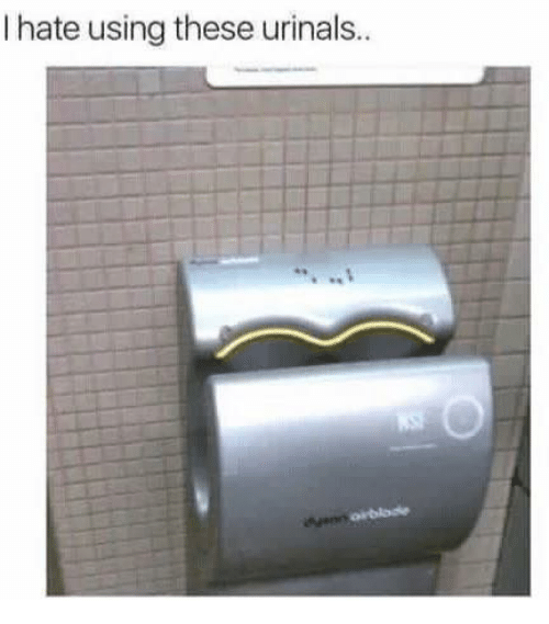 Urin: hate using these urinals.