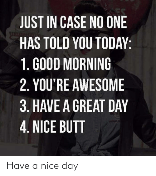 have a nice day: Have a nice day