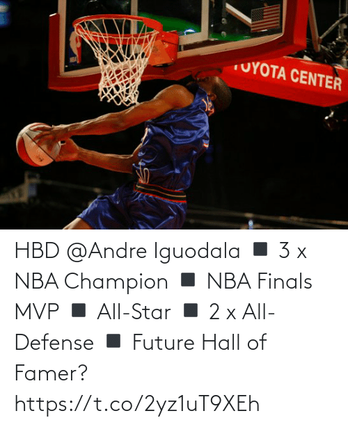 NBA: HBD @Andre Iguodala  ◾️ 3 x NBA Champion  ◾️ NBA Finals MVP ◾️ All-Star ◾️ 2 x All-Defense ◾️ Future Hall of Famer?   https://t.co/2yz1uT9XEh