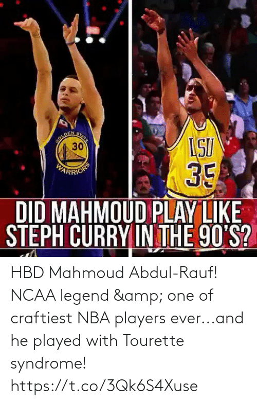 NBA: HBD Mahmoud Abdul-Rauf! NCAA legend & one of craftiest NBA players ever...and he played with Tourette syndrome!  https://t.co/3Qk6S4Xuse
