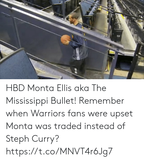Traded: HBD Monta Ellis aka The Mississippi Bullet!  Remember when Warriors fans were upset Monta was traded instead of Steph Curry? https://t.co/MNVT4r6Jg7
