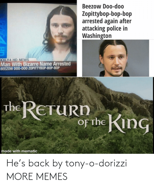 Back: He's back by tony-o-dorizzi MORE MEMES