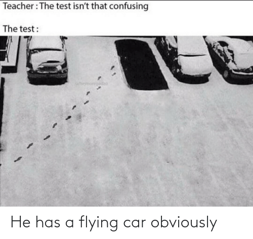 Flying: He has a flying car obviously