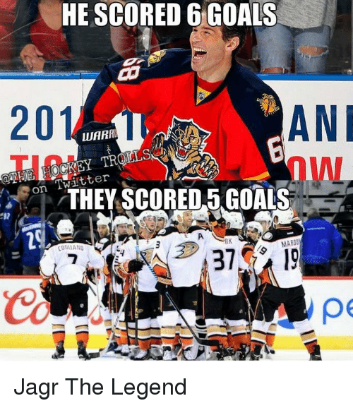 Goals, Twitter, and Legend: HE SCORED 6 GOALS  20  ANI  LUARRE  Twitter  THEY SCORED 5 GOALS  On  A  RK  MABOO  pe Jagr The Legend