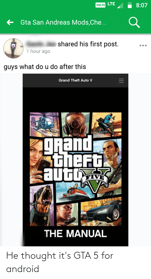 Android: He thought it's GTA 5 for android