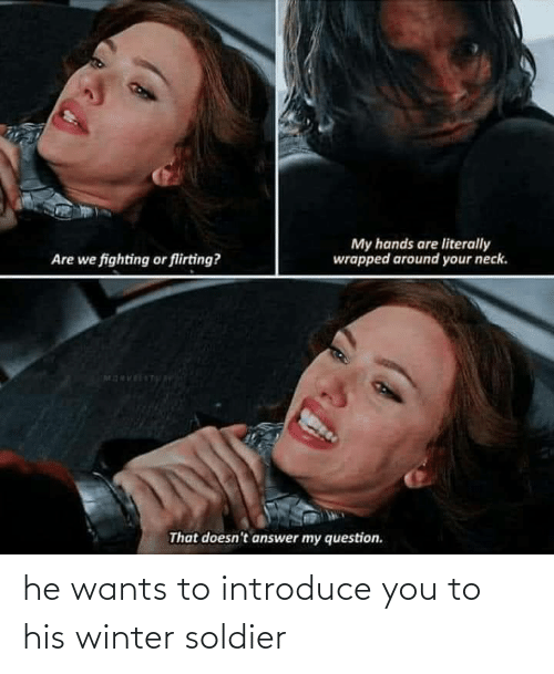 Winter: he wants to introduce you to his winter soldier