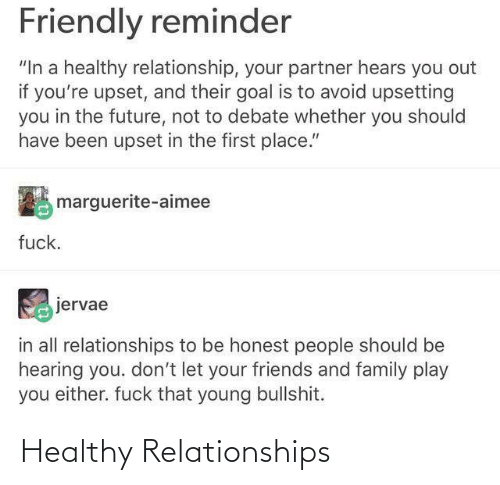 Relationships: Healthy Relationships