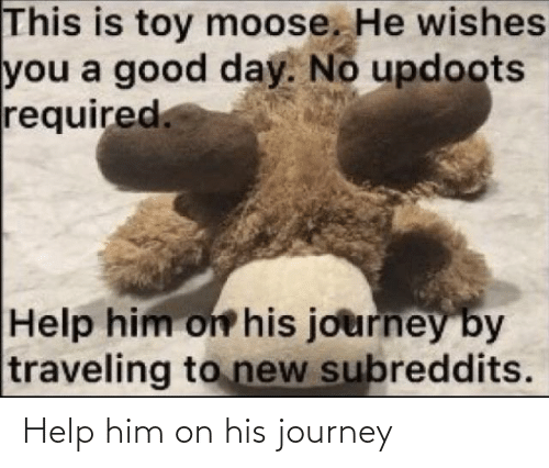 Journey: Help him on his journey