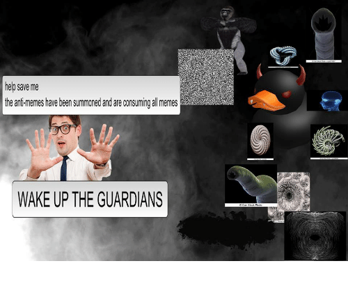All Memes: help save me  the ani-memes have been summoned and are consuming all memes  WAKE UP THE GUARDIANS <p>Awaken the Guardians</p>