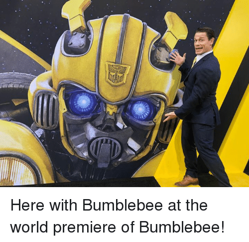 World, Bumblebee, and The World: Here with Bumblebee at the world premiere of Bumblebee!