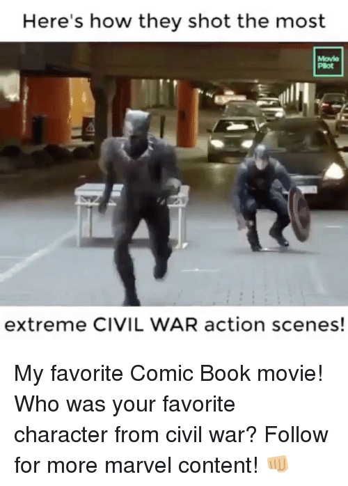 Civility: Here's how they shot the most  Movie  Plot  extreme CIVIL WAR action scenes! My favorite Comic Book movie! Who was your favorite character from civil war? Follow for more marvel content! 👊🏼