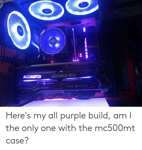 am i the only: Here's my all purple build, am I the only one with the mc500mt case?