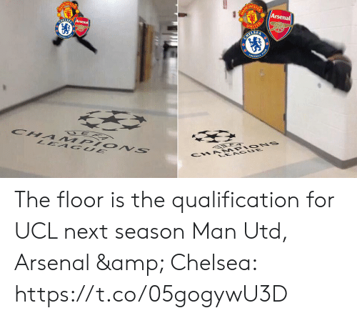 Next Season: HES  Arsenal  ELSE The floor is the qualification for UCL next season  Man Utd, Arsenal & Chelsea: https://t.co/05gogywU3D