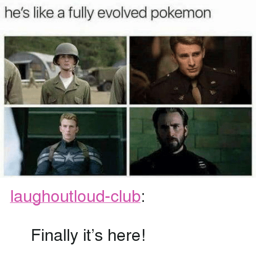 """Its Here: he's like a fully evolved pokemon <p><a href=""""http://laughoutloud-club.tumblr.com/post/173436035939/finally-its-here"""" class=""""tumblr_blog"""">laughoutloud-club</a>:</p>  <blockquote><p>Finally it's here!</p></blockquote>"""