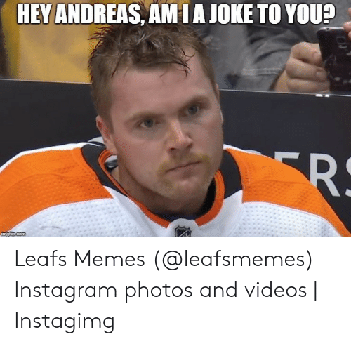 Instagimg: HEY ANDREAS, AMIAJOKE TO YOU? Leafs Memes (@leafsmemes) Instagram photos and videos | Instagimg