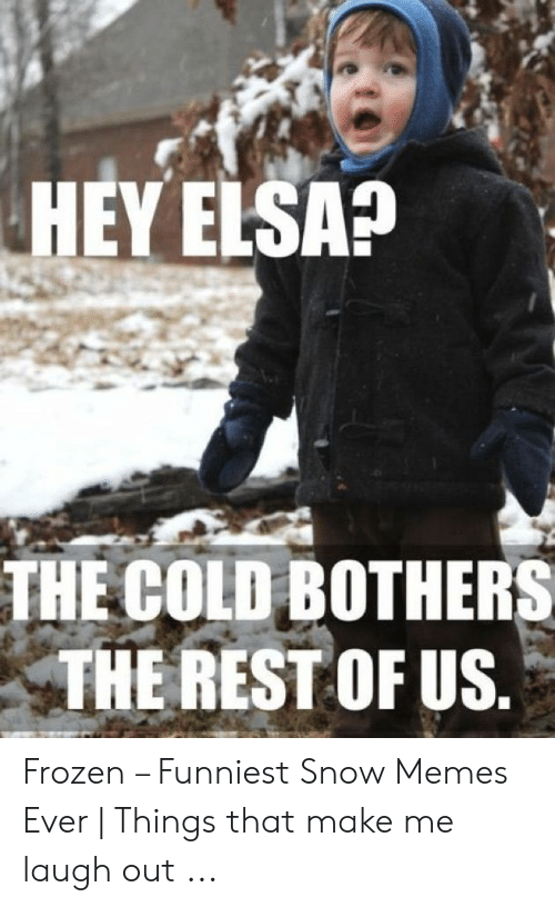 Elsa, Frozen, and Memes: HEY ELSA?  THE COLD BOTHERS  THE REST OF US Frozen – Funniest Snow Memes Ever | Things that make me laugh out ...