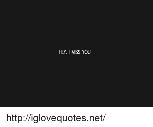 Http, Net, and You: HEY. I MISS YOU http://iglovequotes.net/