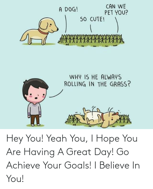 i believe in you: Hey You! Yeah You, I Hope You Are Having A Great Day! Go Achieve Your Goals! I Believe In You!