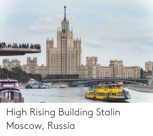 building: High Rising Building Stalin Moscow, Russia