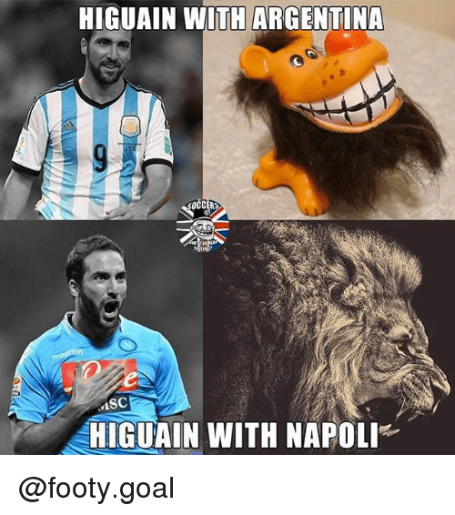 Goals, Memes, and Argentina: HIGUAIN WITH ARGENTINA  MSC  HIGUAIN WITH NAPOLI @footy.goal