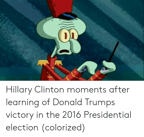 2016 Presidential Election: Hillary Clinton moments after learning of Donald Trumps victory in the 2016 Presidential election (colorized)