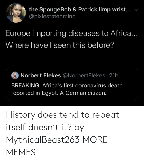 Repeat: History does tend to repeat itself doesn't it? by MythicalBeast263 MORE MEMES