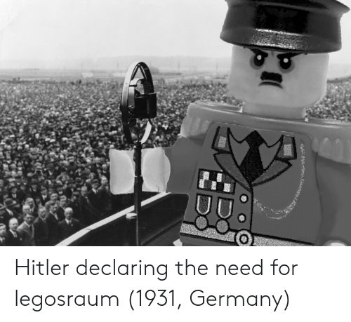 Germany, Hitler, and For: Hitler declaring the need for legosraum (1931, Germany)