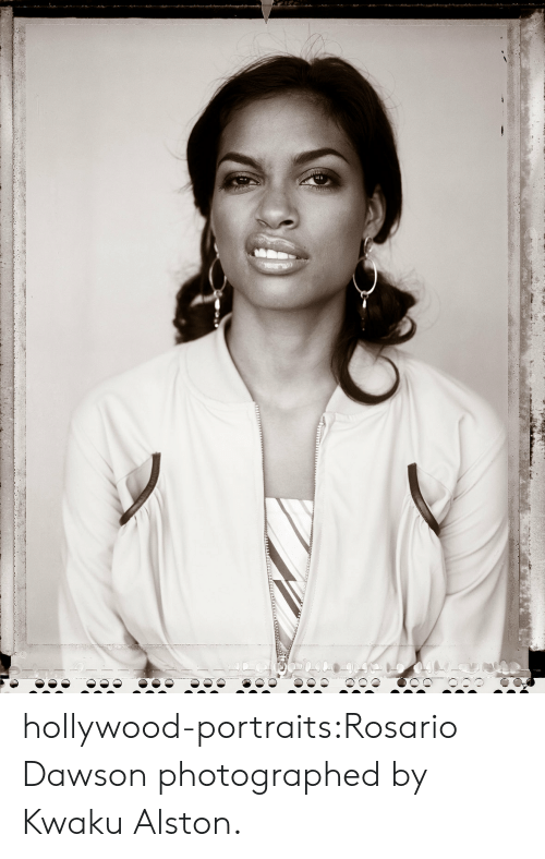 Rosario: hollywood-portraits:Rosario Dawson photographed by Kwaku Alston.