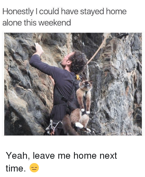 Being Alone, Home Alone, and Yeah: Honestly I could have stayed home  alone this weekend Yeah, leave me home next time. 😑