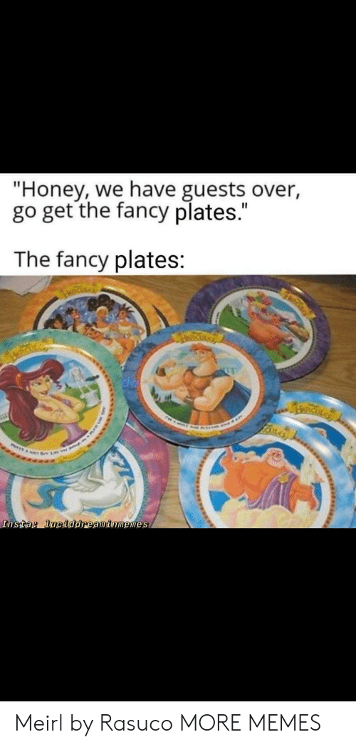 "insta: ""Honey, we have guests over,  go get the fancy plates.""  The fancy plates:  RICKLA  Insta: luciddreaminmemes Meirl by Rasuco MORE MEMES"