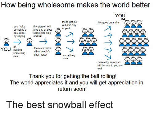 Image result for snowball effect meme