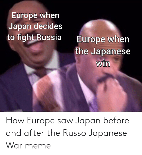 Saw: How Europe saw Japan before and after the Russo Japanese War meme