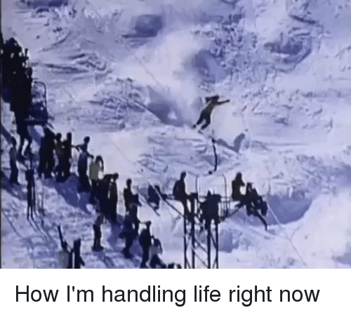 Funny, Handle, and Handles: How I'm handling life right now