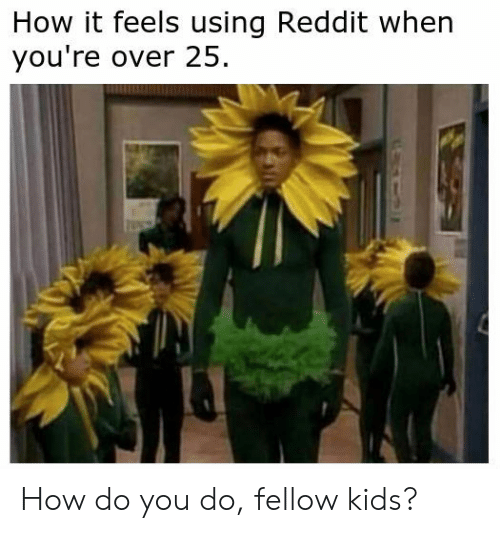 Reddit, Kids, and How: How it feels using Reddit when  you're over 25 How do you do, fellow kids?