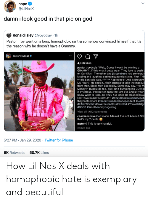 Lil Nas X: How Lil Nas X deals with homophobic hate is exemplary and beautiful