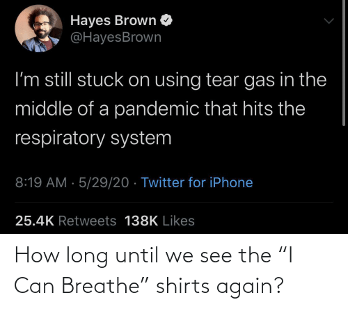 "Long: How long until we see the ""I Can Breathe"" shirts again?"