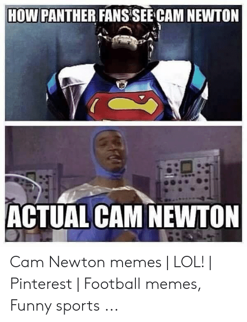 Cam Newton Memes: HOW PANTHER FANSSEE CAM NEWTON  ACTUAL CAM NEWTON Cam Newton memes | LOL! | Pinterest | Football memes, Funny sports ...