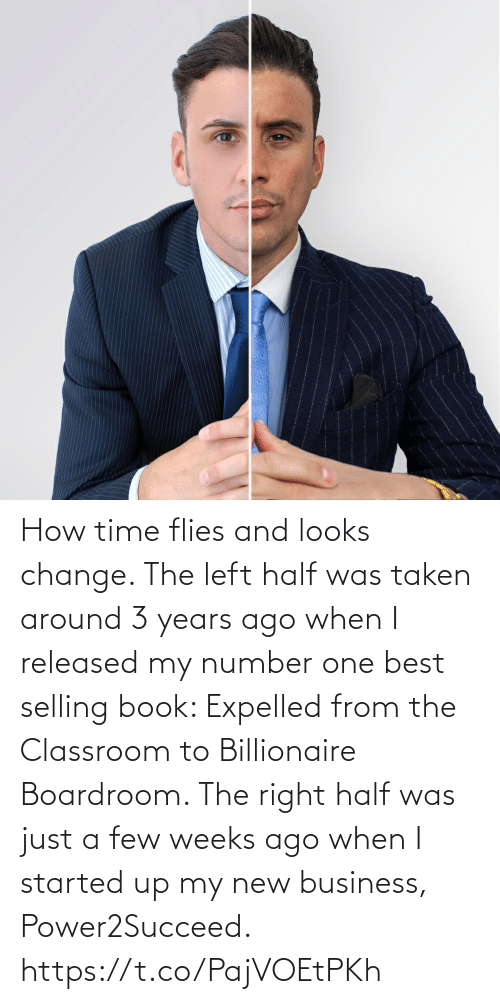 Started: How time flies and looks change.   The left half was taken around 3 years ago when I released my number one best selling book: Expelled from the Classroom to Billionaire Boardroom.   The right half was just a few weeks ago when I started up my new business, Power2Succeed. https://t.co/PajVOEtPKh