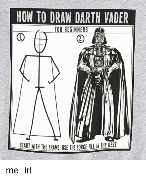 how to draw a cute darth vader